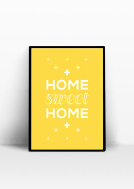 home sweet home poster scandinave jaune