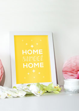 Affiche scandinave Home sweet home