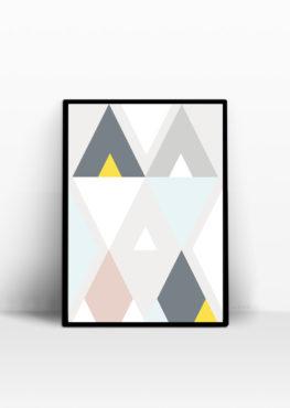 triangle scandinave affiche decoration