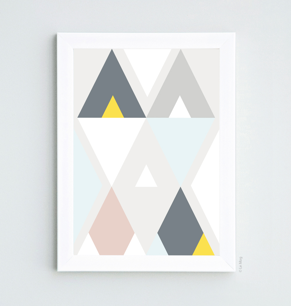 Affiche triangle scandinave le mog for Affiches scandinaves