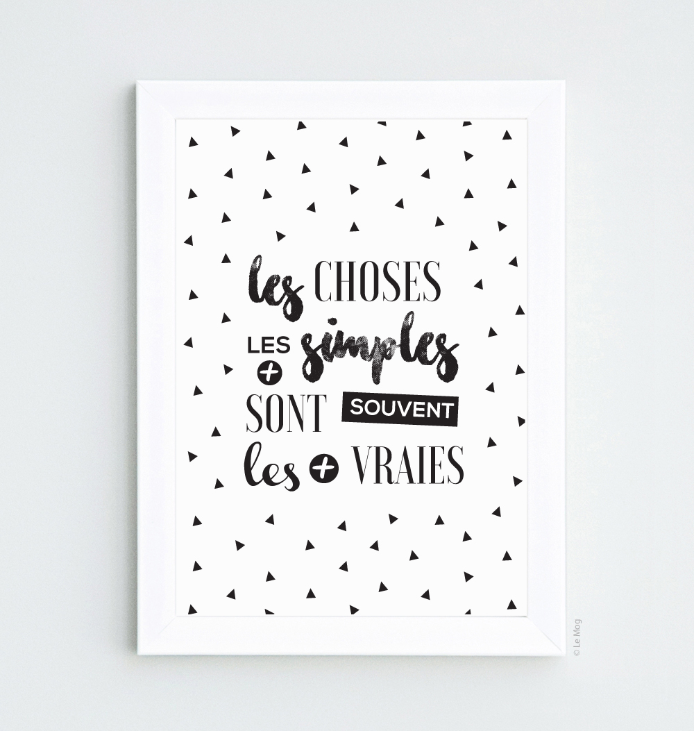 Affiche scandinave les choses les plus simples d coration for Affiches scandinaves