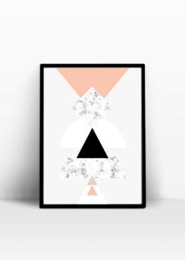 affiche marbre geometrique