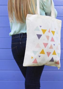 tote bag geometric color