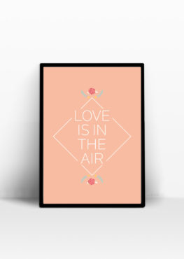 love is in the air affiche message positif