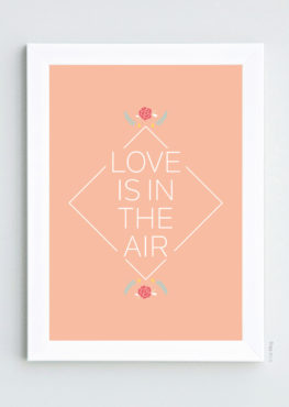 Affiche Love is in the air, printemps