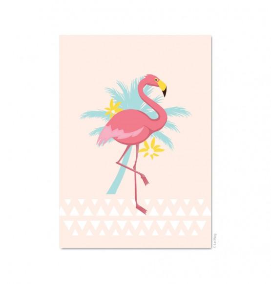 carte postale d corative flamant rose e shop d coration le mog. Black Bedroom Furniture Sets. Home Design Ideas