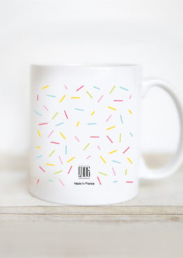 mug ice cream summer confettis girl