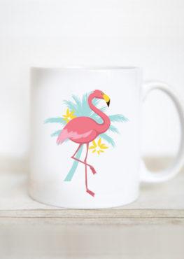mug flamant rose