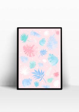 botanic pastel affiche decoration interieur mint