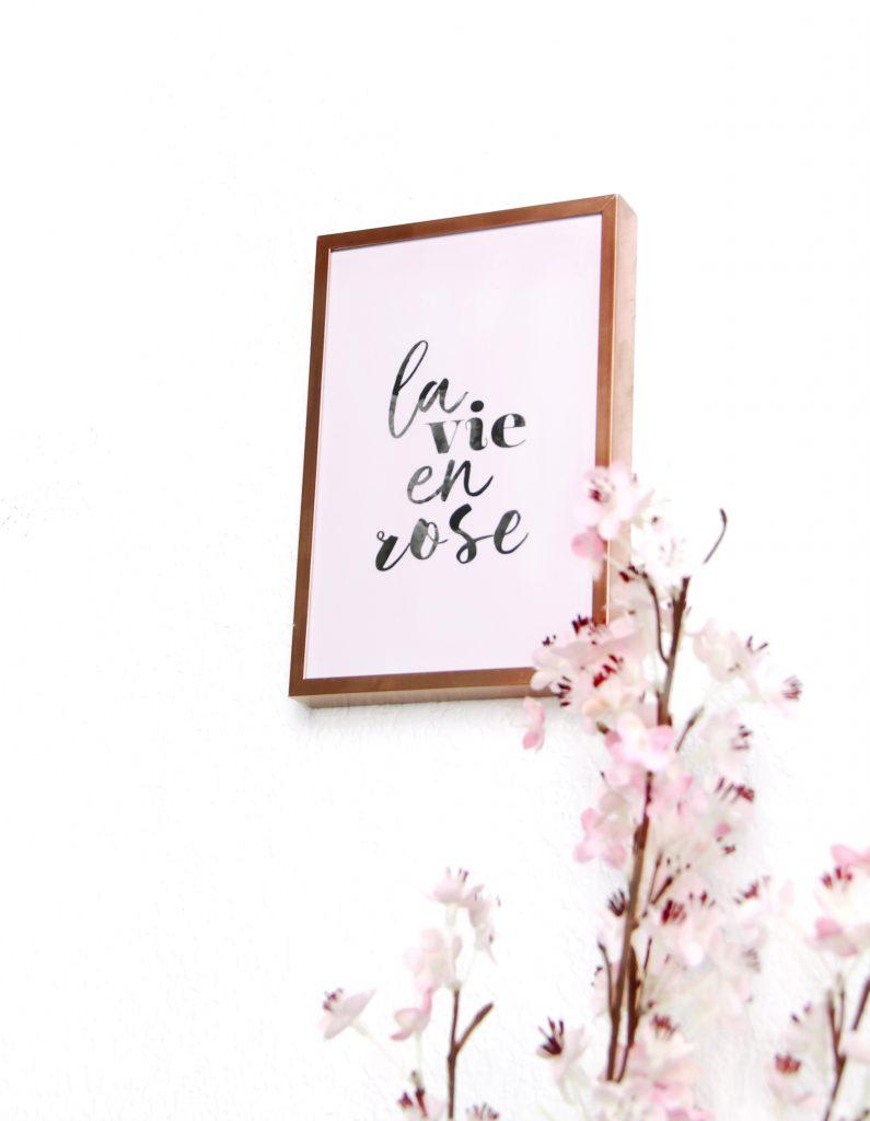carte la vie en rose déco
