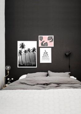 decoration murale affiche tropical chambre