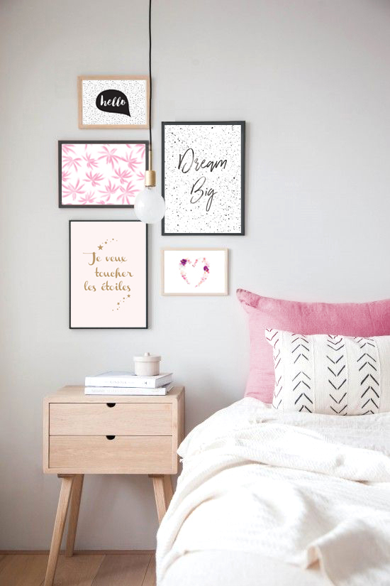 affiche message positif dream big e shop d co le mog. Black Bedroom Furniture Sets. Home Design Ideas